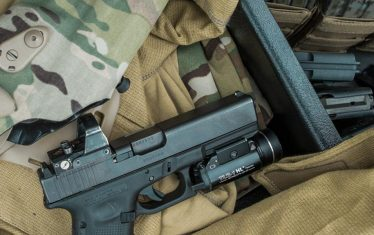 Firearm with RDS and Safariland Tactical Holster