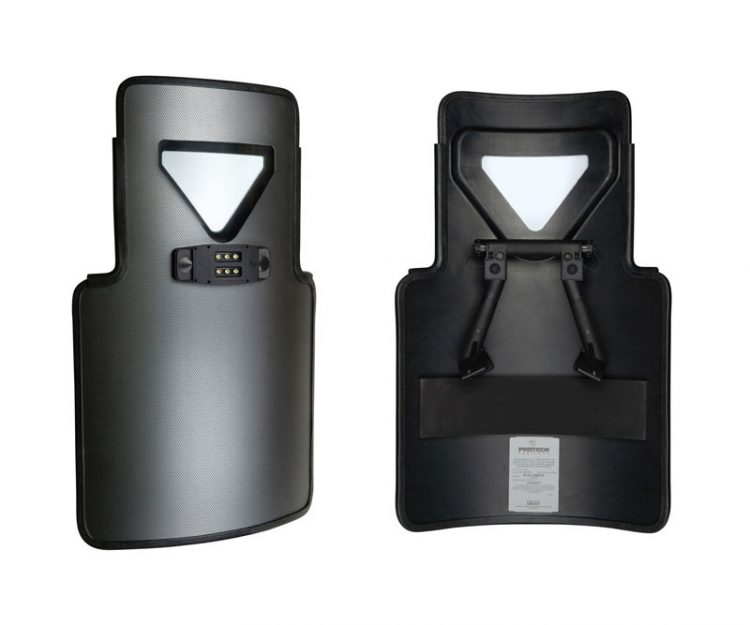FOXFURY INTEGRATED LIGHT / HANDLE FOR ITS PATENTED X SERIES BALLISTIC SHIELDS