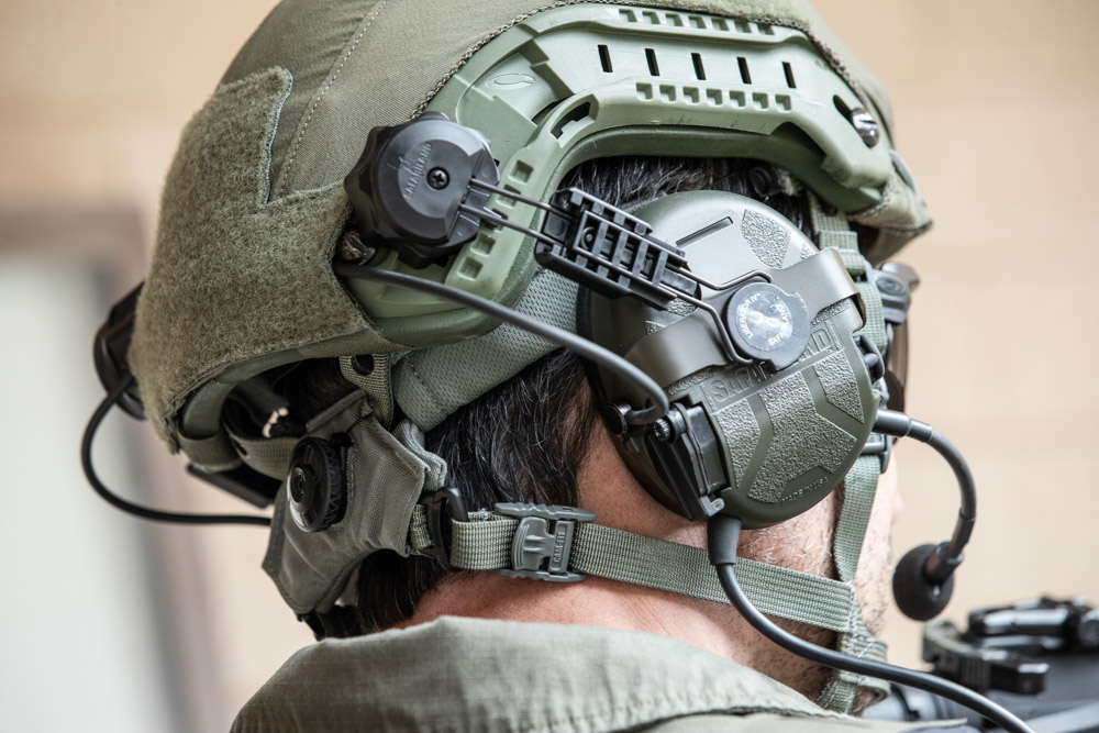 PROTECH Tactical® Helmet with Safariland®/TCI™ Liberator headset