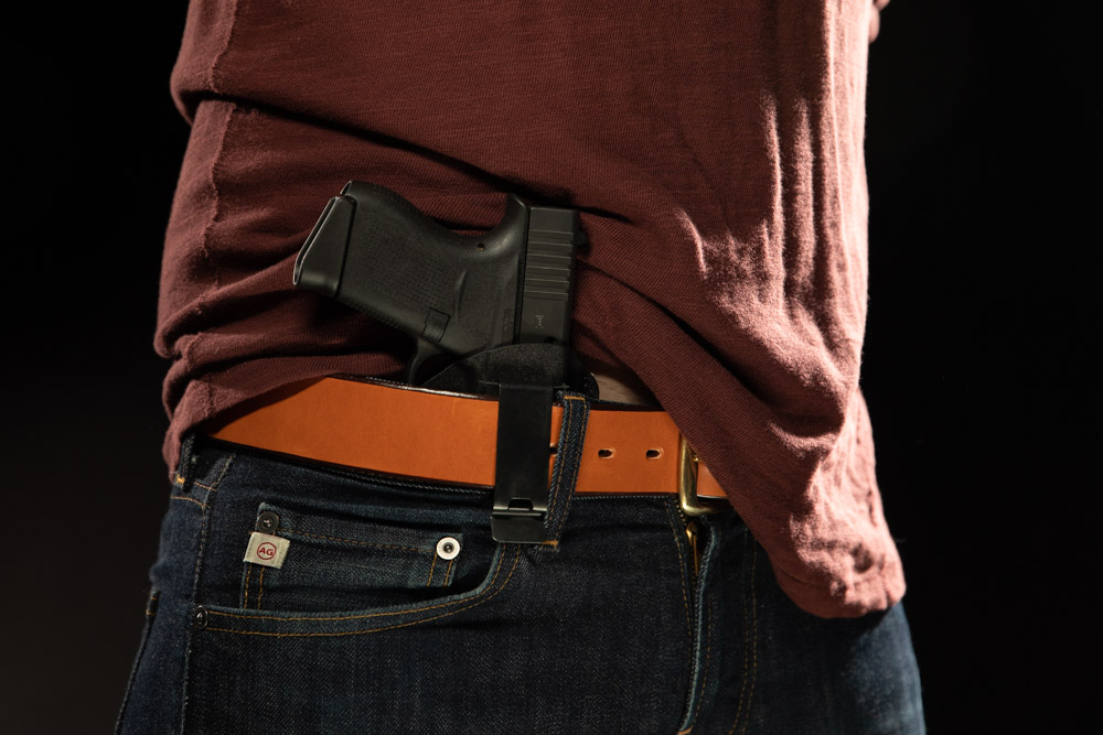 Inside the Waistband (IWB) concealed carry method