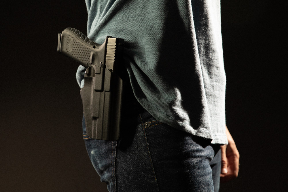Outside the Waistband (OWB) or Open Carry concealed carry method