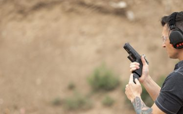 Shooting at the range with Safariland® Hearing Protection