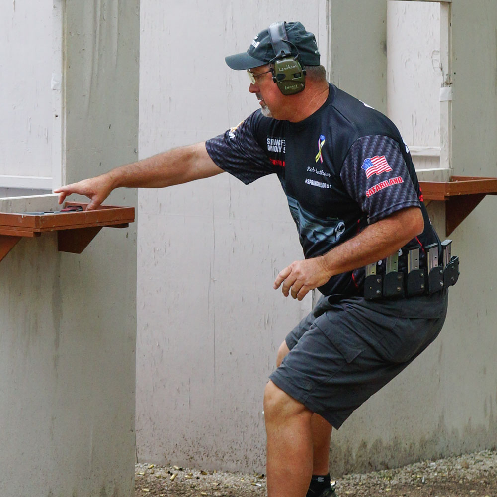 Rob Leatham from Team Safariland at the 2015 USPSA Single Stack Nationals