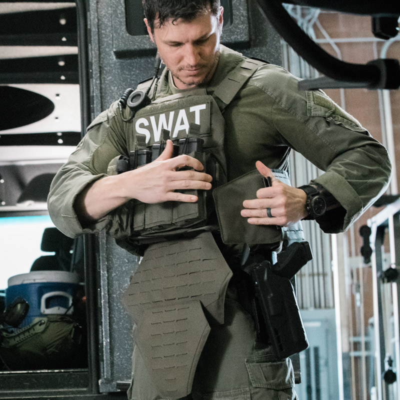 SWAT team member wearing Safariland® Tactical Body Armor
