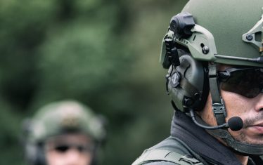 PROTECH® Helmet with Liberator™ Rail Mounted Headset