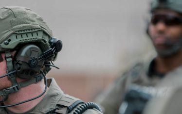 SWAT Team Member wearing a Liberator Helmet